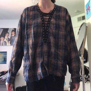 LF flannel sweater